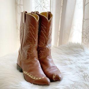 Vintage Tony Lama Leather Western Boots